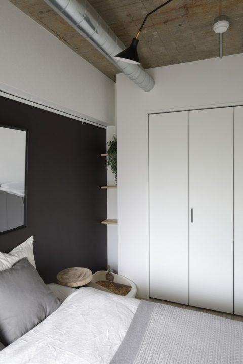 インテリックス、マンションリノベーション、寝室、ベッドルーム、クローゼット、猫トイレ