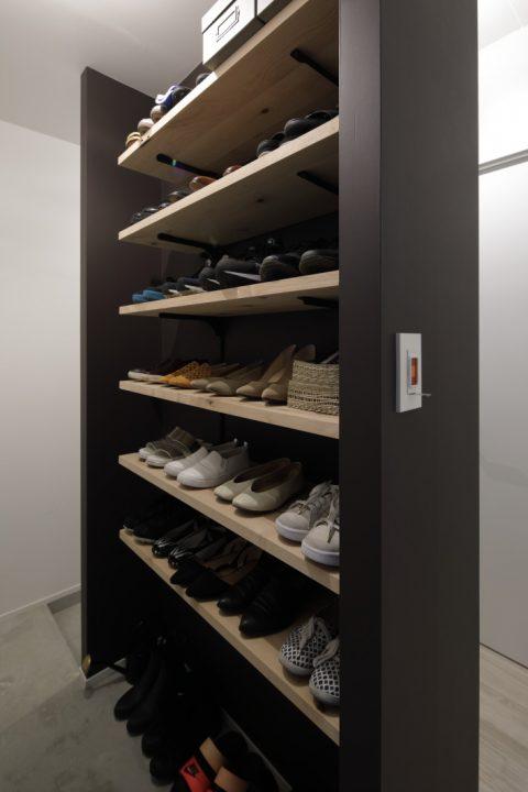 インテリックス、マンションリノベーション、靴収納、玄関収納、土間