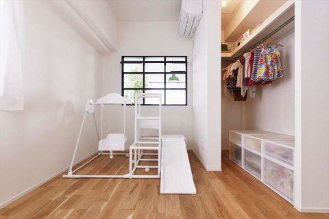 マンションリノベーション、スタイル工房、室内窓、子ども部屋、ウォークインクローゼット