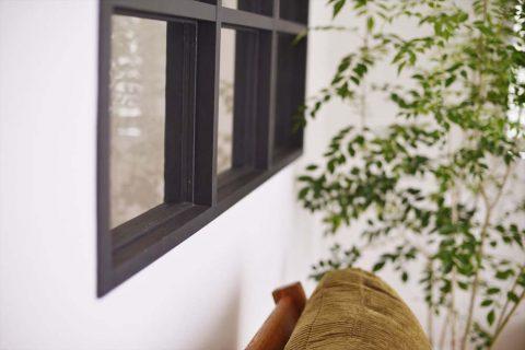 マンションリノベーション、スタイル工房、室内窓、アイアン塗装、