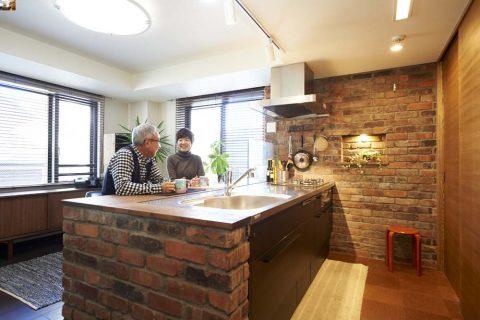 カウンターキッチン、リビング、スタイル工房、リノベーション