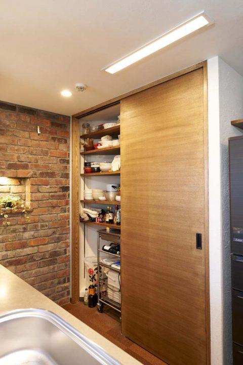キッチン収納、背面、ワゴン、スタイル工房