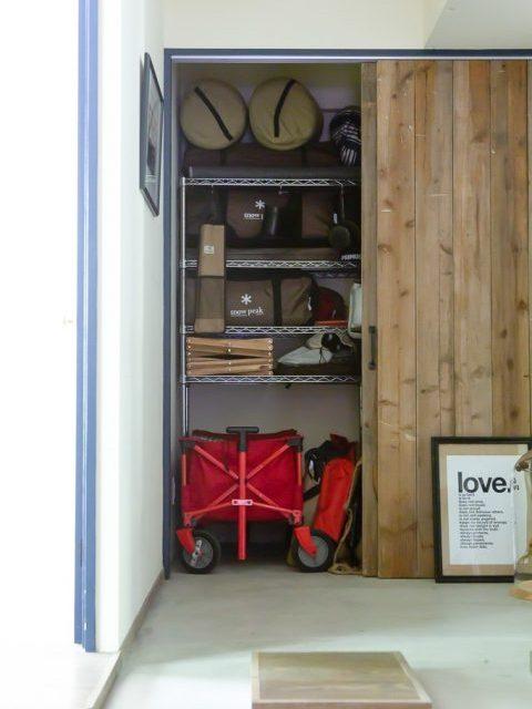 マンションリノベーション、CLOCK(クロック)、玄関収納、玄関土間、引き戸収納